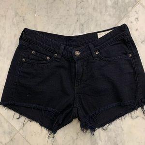 Rag & Bone Size 26 Black Cut Off Zippered Shorts